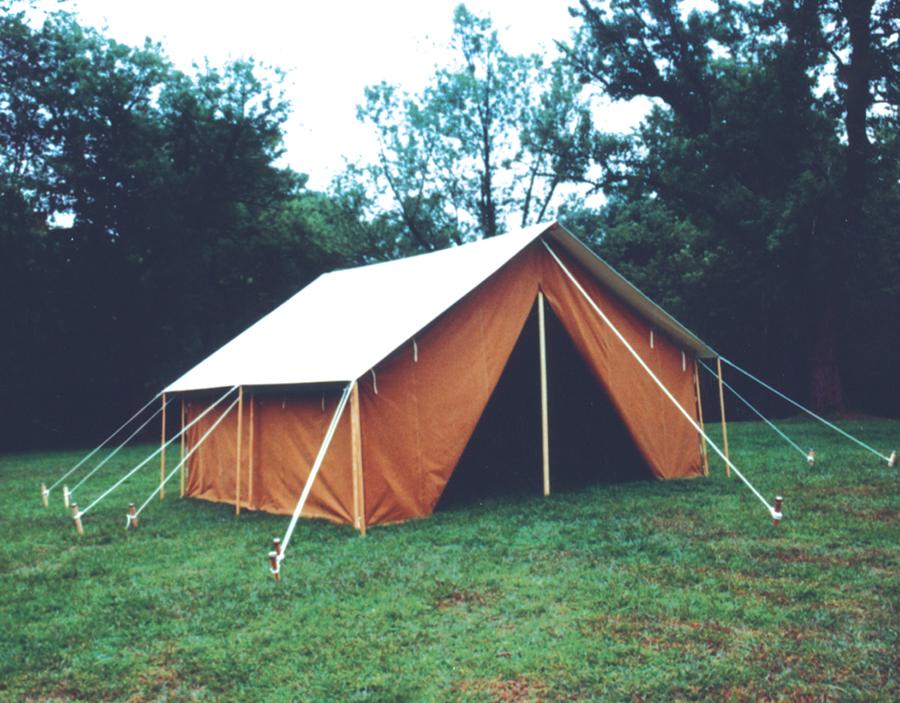 Camp tents tent city canvas house for Tent platform plans